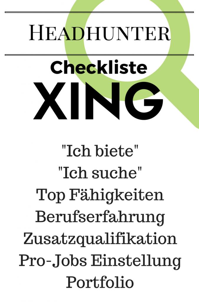 Checkliste xing
