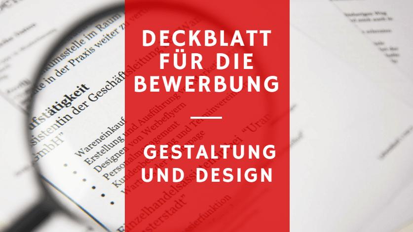 Deckblatt Bewerbung 9 Vorlagen Die Personaler Lieben