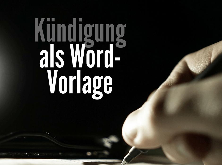 kndigungsschreiben als word und pages vorlage zum download - Kundigung Muster Arbeitnehmer