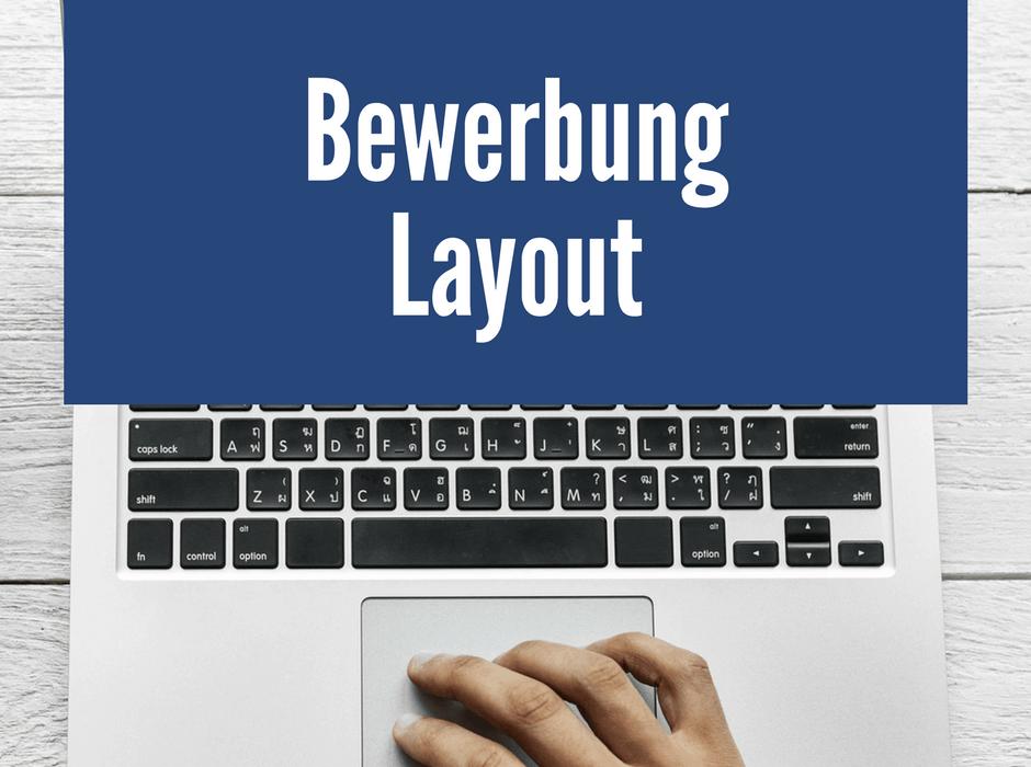 bewerbung layout 4 perfekte design muster - Layout Bewerbung