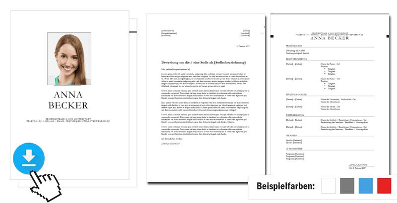 Bewerbungsvorlage Word Und Pages 4 Anpassbare Premium Designs